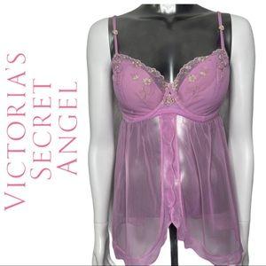 Victoria's Secret Angels Mauve Babydoll Nightie